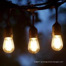 S14 Classic LED Cafe Luzes Cordas Preto