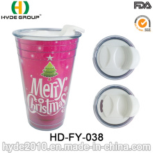 Promotional Double Wall Plastic Christmas Party Solo Cup