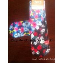 Impressão digital moda mulher meias