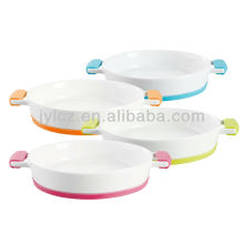 round lasagne dish,large size