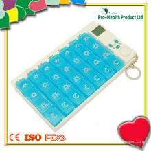 28 compartimentos cronômetro de caixa de comprimidos de 7 dias