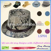 Sombrero de paja de papel del 100% de las mujeres de la cinta de la manera al por mayor del precio bajo, LSP04