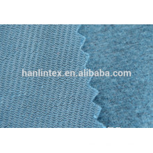 dyed 100% polyester tricot brushed fabric
