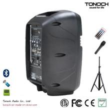 Fonte de Fábrica portátil 8 polegadas gabinete de alto-falante de plástico com multi-função