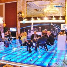 Decente sistema de piso de vidro de iluminação para publicidade, feira, exposição