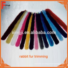 Recorte de piel de conejo real de moda de calidad superior