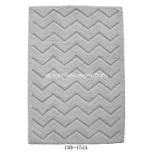 Soft Microfiber Rug High & Low Pattern