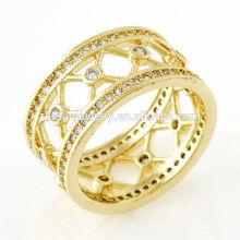 mulheres anéis coroa em forma de ouro banhado a jóia novo produto