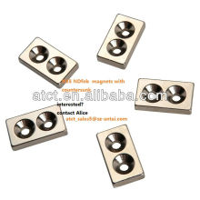 Natural Matrial Strong Power neodymium Magnet With Screw Hole