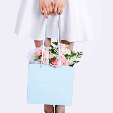 Durable+Single+Color+Flower+Packaging+Paper+Bag
