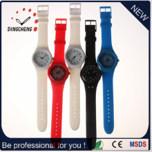 2015 relógio de banda longa Swiss MOV Silicone Watch (DC-991)
