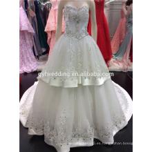 Turquía vestidos de novia 2016 al por mayor vestido de novia de cristal de amor importados de China A095