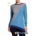 Latest Design 100 Cashmere Knit Rainbow Crop Sweater for Women