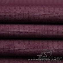 Water & Wind-Resistant Sportswear ao ar livre Jaqueta de tecido Tecido Duplo-Striped Plaid Jacquard 100% Tecido de Pongee de poliéster (E059)