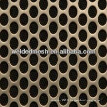 Feuille métallique perforée de 20 mm