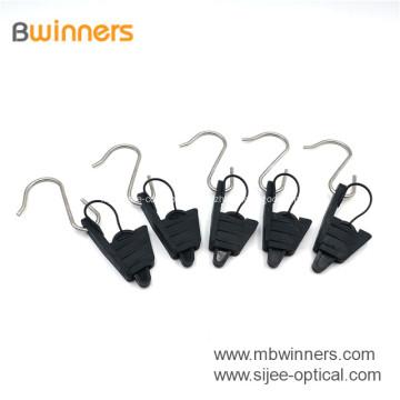 Braçadeira de tensão do cabo liso da qualidade superior FTTH para o cabo de fio da gota da fibra
