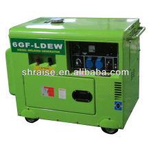 Groupe électrogène diesel portable silencieux 5KW 230A