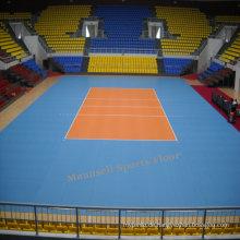 Günstige Indoor / Outdoor PVC Verriegelung / Roll / Fliese Volleyballboden