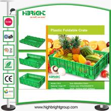 Cajón de fruta vegetal plegable de plástico