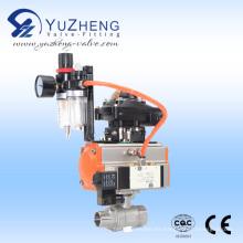 Válvula de bola 2PC con actuador neumático con hilo de FM y