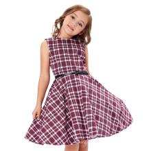 Kate Kasin Girls Sleeveless Vintage Retro Cotton Pattern Vintage Divinity Baby Kids Summer Dress KK000250-8