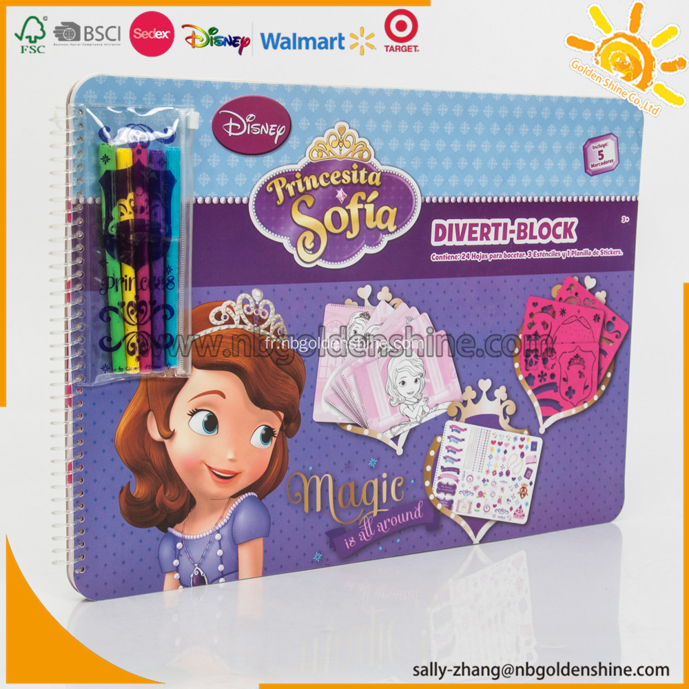 Sofia Large Activity Book With Stencil