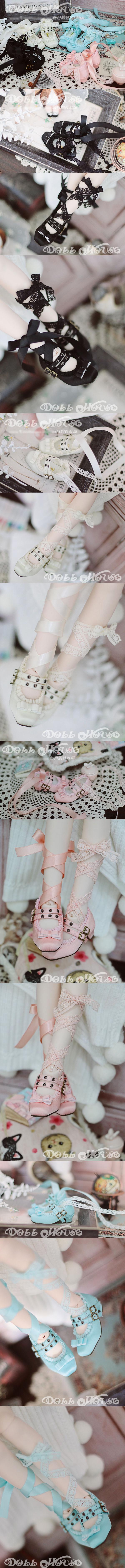 1/4 Girl Pink/Blue/White/Black Ballet Shoes