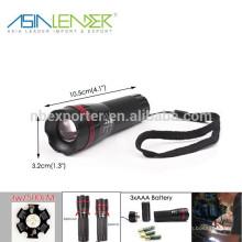 BT-4856 Zoom de qualité Zoom-out LED Torch Mini Zoomable Flashlight