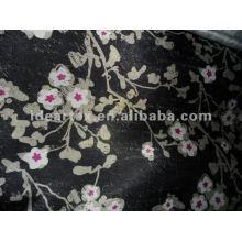 Polyester imprimé Satin tissu fleur pour robe de Dame et vêtements de nuit faites personnaliser