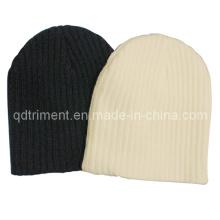 100% acrílico llanura invierno invierno caliente gorrita tejida sombrero (TRK024)