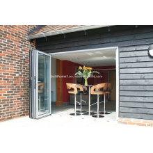 Portes d'aluminium à double revêtement revêtue à faible hauteur