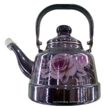 Фарфоровый эмалевый чайник, эмалированный чайник, эмалированная посуда, чайник из углеродистой стали