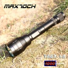 Maxtoch TA6X-12 1000 Lumen 18650 étanche tactique LED d'éclairage