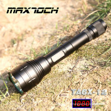 Maxtoch TA6X-12 1000 Lumen 18650 impermeável tático LED iluminação