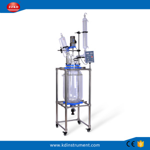 Factory+Price+Big+Lab+Jacketed+Glass+Polymerization+Reactor