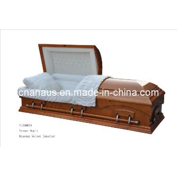 Estilo americano folheado Maple caixão (V10H0034)
