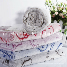 Tallas dimensionales de franela de terciopelo visón de cachemira mantas