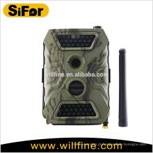Câmera de segurança do cartão do sim de 3g 12MP 720P ao ar livre sem fio da definição para a fiscalização remota da área