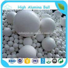 Balle d'alumine blanche haute d'application en céramique industrielle résistante à l'usure