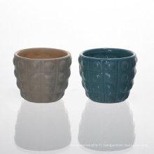 Bougeoirs en céramique à la mode avec jeu de couleurs variées