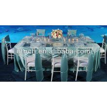 Guillotine simple pour couverture de chaise, ceinture en satin de chaise pour la décoration de mariage