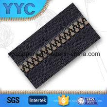 # 5 Plated Bronze Big Teeth Kunststoff Zipper für Taschen