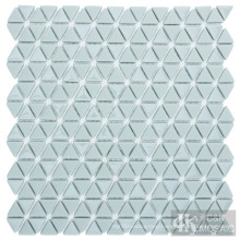Triangle Art Glass Mosaic Floor Tiles