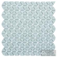 Ladrilhos de mosaico de arte em vidro triangular