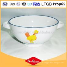 Boite de céramique d'actualité avec design mignon de canard avec deux poignées pour BS120808B