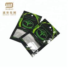 Sac plat scellé de Mylar de poche de joint de chaleur de l'emballage de thé de papier d'aluminium rescellable trois avec Ziplock