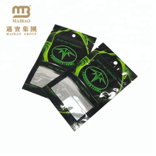 Resealable Aluminum Foil Tea Packing Three-Side Heat Seal Pouch Customized Mylar Flat Bag with Ziplock
