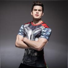 Kundenspezifische Sublimation gedruckt Unisex Lycra Anti-UV Rashguard Männer MMA Rash Guard