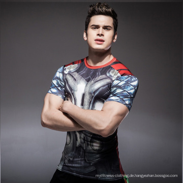 Benutzerdefinierte Sublimation gedruckt Unisex Lycra Anti-UV-Rashguard Männer MMA Rash Guard