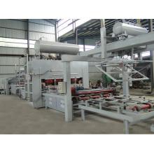 Économie manuelle Ligne de production automatique de la carte Presse à chaud Laminage à cycle court Presse à chaud